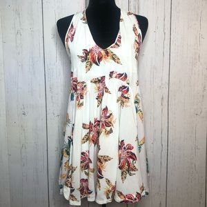 Free People Floral print mini dress